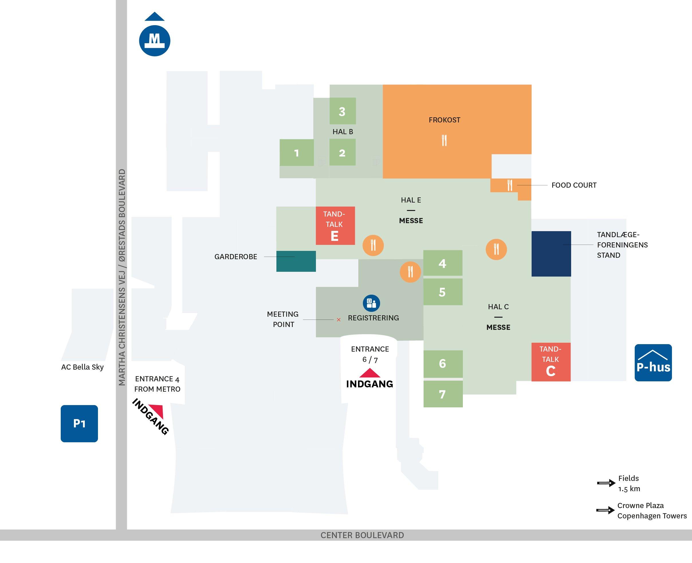 Plan over Bella Center / klik for stor version